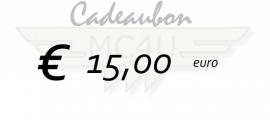 15 euro kadobon