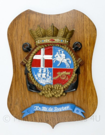 Wandbord Koninklijke Marine Hr MS de Ruyter - 27 x 21 x 1,5 cm - origineel