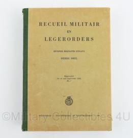 Recueil militair en legerorders derde deel - 7e beknopte uitgave - bijgewerkt tot en met legerorde 1950 - origineel
