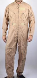 Flight Suit Coveralls Flyers Summer Fire Resistant Cwu-27/p Vlieger Vlamwerend khaki - size 34 R = NL maat 44 regular  - NIEUW - origineel