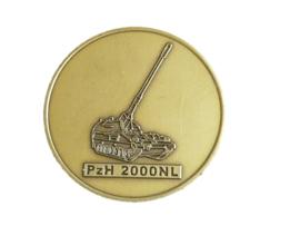 KL Nederlandse leger 14 Artybat PzH 2000NL tank herinneringsmedaille coin - diameter 4 cm - origineel