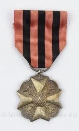 Belgische burgerlijke ereteken medaille  - zilver - origineel