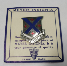 US Army 126th Infantry Regiment unit crest metaal - 3 x 2,9 cm - maker Meyer - origineel