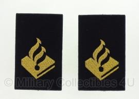 Politie paar schouder schuifpassanten met politie logo - ondersteunend personeel - Origineel