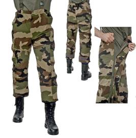 Franse leger CCE camo regenbroek bretelbroek - tegen regen en wind - maat 88 tm. 96 - origineel