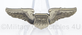 US Army borst wing Navigator/Aircraft Observer silver - afmeting 5 x 2 cm - origineel