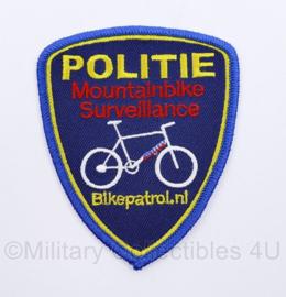 Politie Mountainbike Surveillance bike Patrol embleem  - 9  x 8 cm - origineel