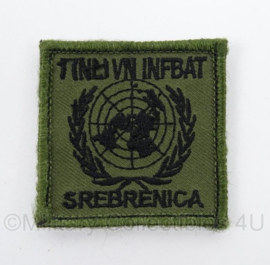 KL Landmacht borst embleem 1NL VN INFBAT Srebrenica - Bosnie - met klittenband - afmeting 5 x 5 cm - origineel