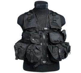 Tactical vest met 9 tassen - zwart