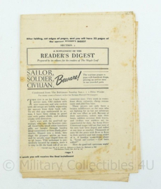 Oorlogse uitgave A supplement of The Readers Digest Brits - origineel