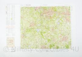 Defensie stafkaart 34 Oost Enschede M733 - schaal 1 : 50.000 -57 x 83 cm - origineel