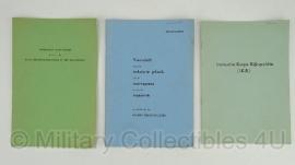 Nederlands Korps Rijkspolitie documenten set - 3 stuks - origineel