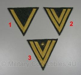 Marine artillerie chevrons - meerdere soorten - m40 groen met goud