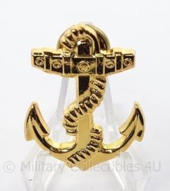 Korps Rijkspolitie te water dienstonderscheidingsteken - afmeting 3 x 4 cm - origineel