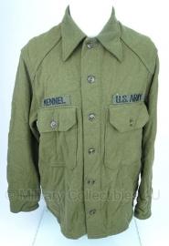 US Army Model 1951 blouse wol van 1952- maat Medium - MET insignes -  origineel