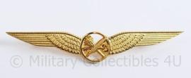 Klu Luchtmacht wing  goudkleurig Stewards/ Stewardessen  - 10 x 2 cm - origineel