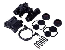 DUMMY PVS-31 Night Vision Device nachtkijker met Batterij box en acc. voor MICH FAST helm ZWART (zonder helm) voor Dovetail steun