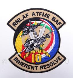 "KLu Koninklijke Luchtmacht RNLAF/BAF embleem ""Inherent Resolve"" - met klittenband -12 x 13,5"