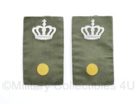 Defensie GVT epauletten Adjudant met kroon  - Adjudant onderofficier - 8,5 x 4,5 cm - origineel