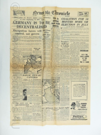 News Chronicle krant - 21 May 1945 - origineel