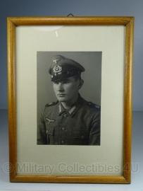 Foto in lijst - 30 x 23 cm. Marine Artillerie - origineel