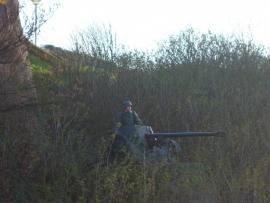 Duits reenactment met kanon