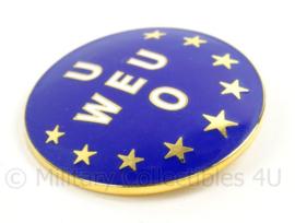 Baret insigne WEU Western European Union 1954/2011 - zeldzaam - doorsnede 5,5 cm - origineel