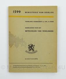 MVO Handleiding voor het Beteugelen van Woelingen nr. 1599 - 1950 - afmeting 12 x 17 cm - origineel