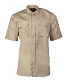 Overhemd khaki katoen hbt ripstop - korte mouw