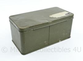 Defensie wapen onderhoud blik metaal - 11 x 12 x 24 cm - origineel