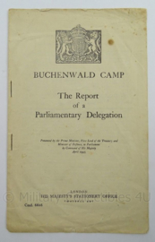 WO2 Engels dokument The Report of a Parlementary Delegation Buchenwald Camp uit 1945 - afmeting 24 x 15 cm - origineel