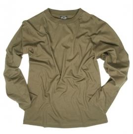 T shirt LANGE mouw - 100% katoen  - Groen