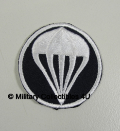 Overseas cap insigne - Parachute infantry - donkerblauw met wit