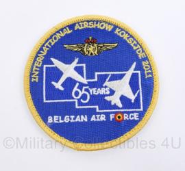 International Airshow Koksijde 2011 BAF Belgian Air Force embleem - met klittenband - diameter 9 cm -  origineel