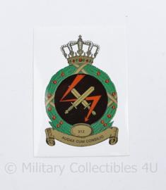 KLU Koninklijke Luchtmacht sticker 312 SQN 312 Squadron - Audax Cum Consilio - 6,5 x 10 cm - origineel