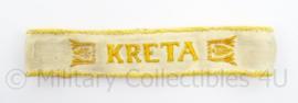 WO2 Duitse Kreta armband - van uniform verwijderd - afmeting 18,5 x 3,5 cm - origineel