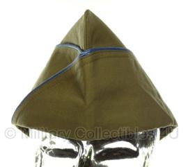 Overseas cap Garrison cap Airborne en Infanterie BLAUWE  bies - maat 58cm - luxe model