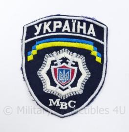 Oekraïens politie embleem MBC Ukraine Ykpaiha MBC - 11,5 x 10 cm - origineel