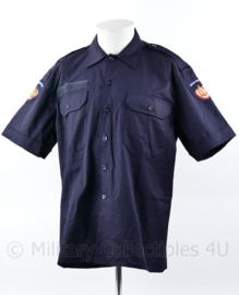 Brandweer kazerne teneu overhemd donkerblauw - korte mouw - 6080/0005 - nieuw - origineel