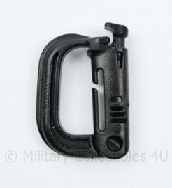 Defensie zwarte koppelbare gesp - NIEUW -6 x 4 cm -  origineel