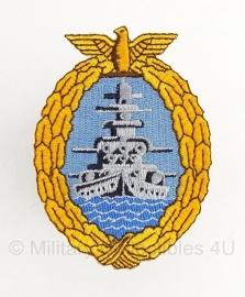 Duitse modern kriegsmarine Flottenkriegs Abzeichen embleem - replica