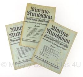 Marine Rundschau boekenset 1922 - set van 3 - origineel