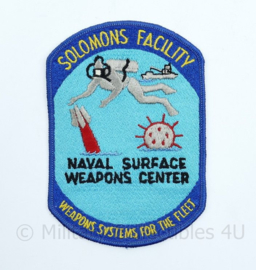 USN US Navy patch  Solomons facility Weapons systems for the fleet - Naval Surface Weapons center -  14 x 9,5 cm - origineel