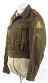 """MVO uniform jas """"luchtdoelartillerie"""" """"Kornwerderzand"""" - rang """"Korporaal"""" - maat 48 - origineel"""