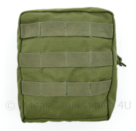 Defensie, Korps Mariniers en US Army groene MOLLE Medium Utility pouch merk Warrior Assault systems -  20 x 16 x,5 x 6 cm - nieuw - origineel