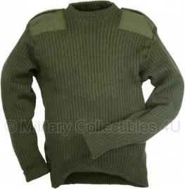 "Commando trui Britse leger ""Heavy"" - origineel - 94, 100 of 106 cm. - GROEN"