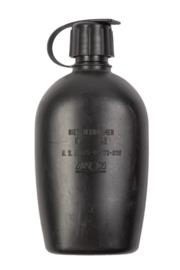 KL Nederlandse leger losse veldfles 1 liter Avon ZWART -  ook geschikt voor drinken met gasmasker op AMF12 NBC masker - origineel