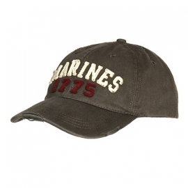 "Baseball cap stone washed - ""Marines"""