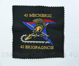 Nederlands Leger - proefmodel embleem 43ste gemechaniseerde brigade  - 43 Brigpagncie- origineel
