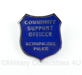 Britse Politie Community Support Officer Metropolitan Police brevet badge - 5,5 x 5 cm - origineel